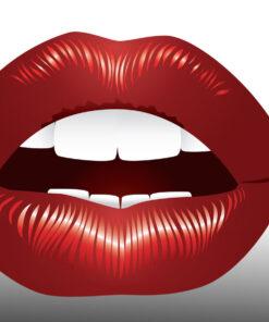 Boca odontología roja