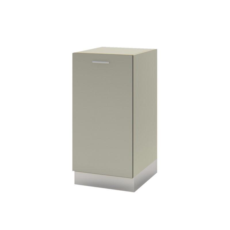 Bajo mesada gris aluminio - módulo puerta Línea Ecco
