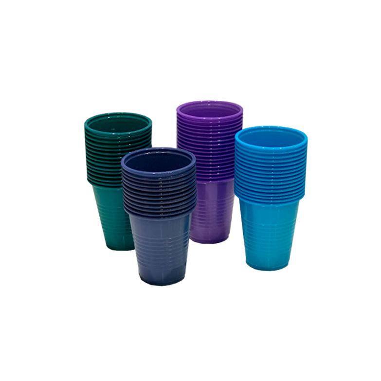 vasos descartables de colores